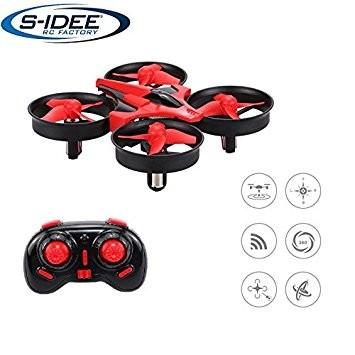 s-idee® 17101 S010 Quadrocopter mit Höhenstabilisierung, Headlessmode, OKR, Flipfunktion u.v.m. 4 Ka